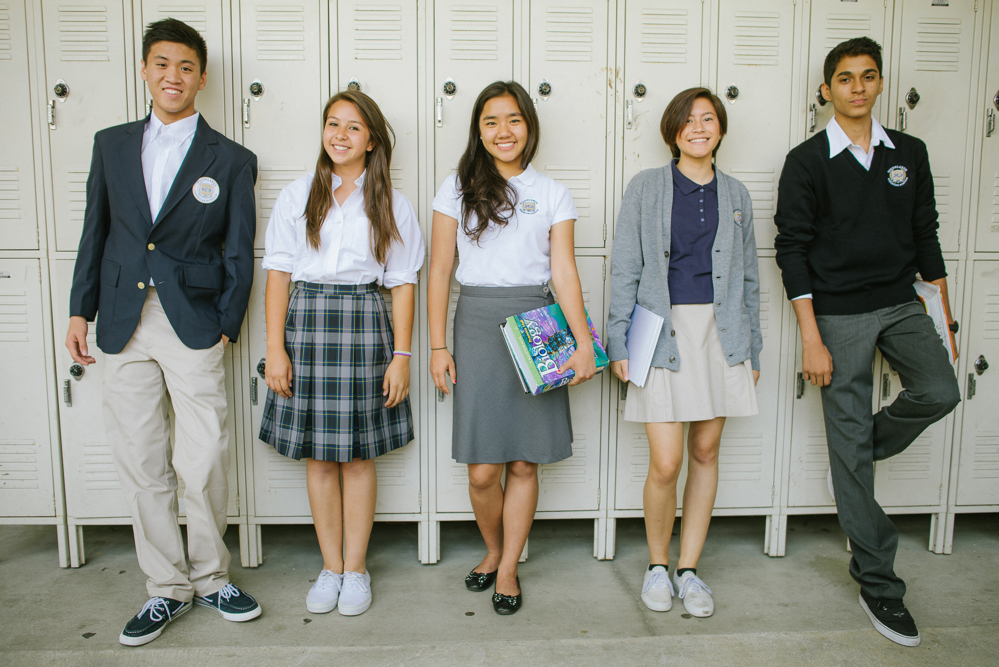 high school and uniform Holy family uniforms reflect an environment of student equality and academic  focus school-approved apparel must be worn at all times during school hours.